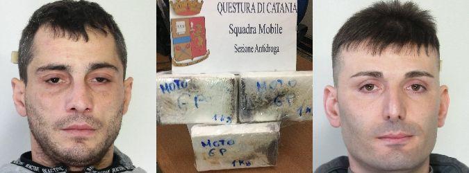 Catania, tre chili di cocaina nell'auto