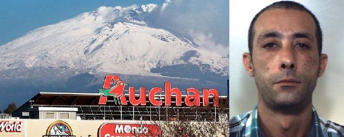 Catania: furto all'Auchan, preso