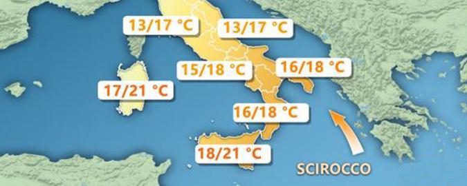 In Sicilia gennaio con lo scirocco
