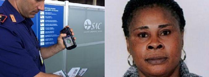 Nigeriana con passaporto falso