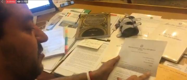 Diciotti, archiviazione per Salvini