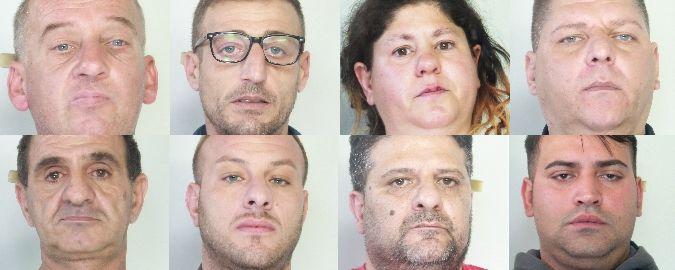 Catania, in 8 finiscono in carcere
