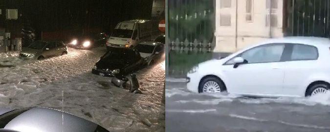 Catania, inondazione biblica