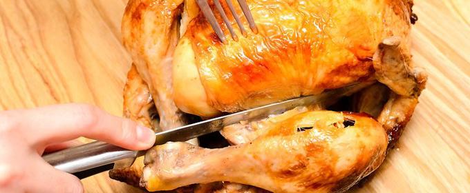 Pollo allo spiedo imbottito di droga