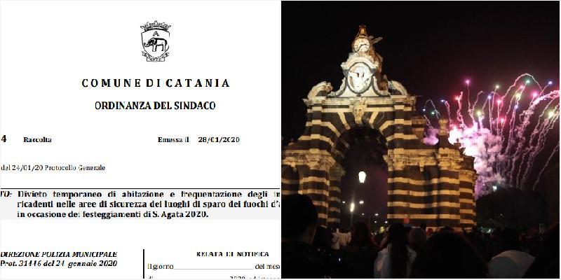 Sant'Agata, vietato stare in casa durante i fuochi. E il sindaco invita tutti in Comune