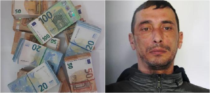 Cocaina e soldi in casa del pregiudicato