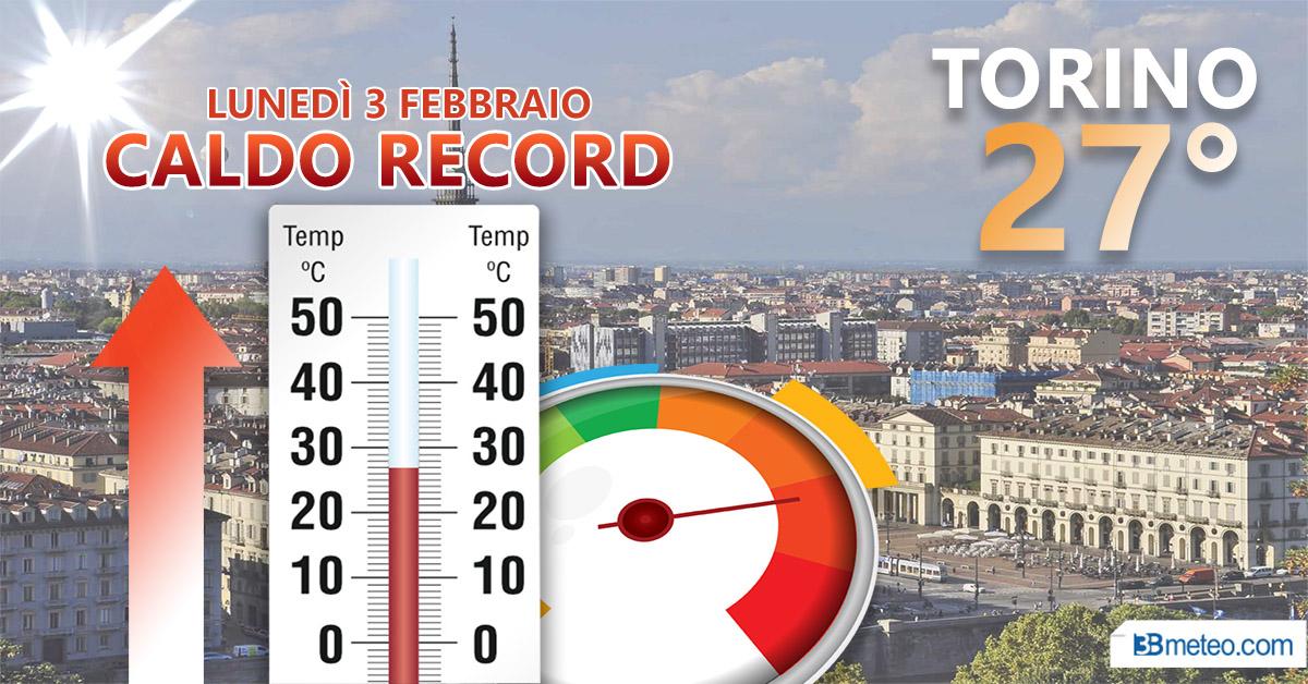 Record a Torino: 27 gradi