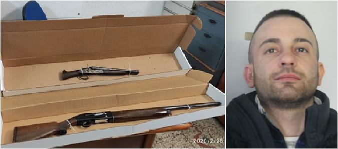 Catania, armi e munizioni nella stalla