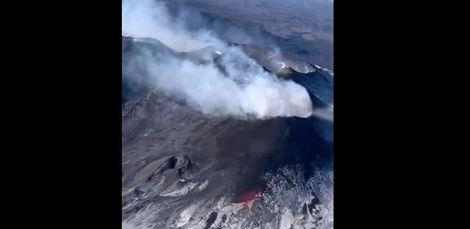 Anche l'Etna si accende per Sant'Agata