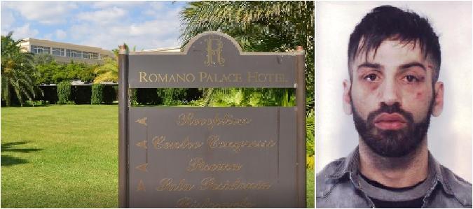Ladro si intrufola al Romano Palace: preso