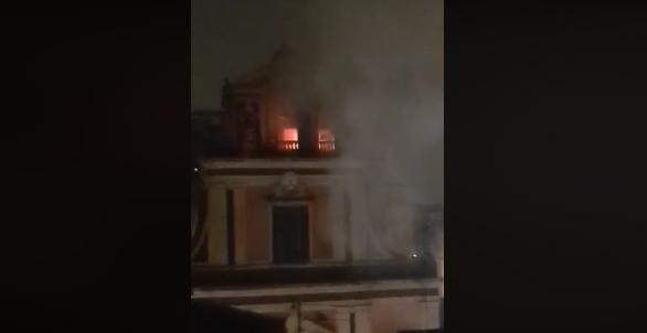 Mascalucia, fulmine causa incendio a S. Vito