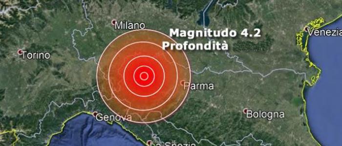 Terremoto a Piacenza, trema tutto il Nord