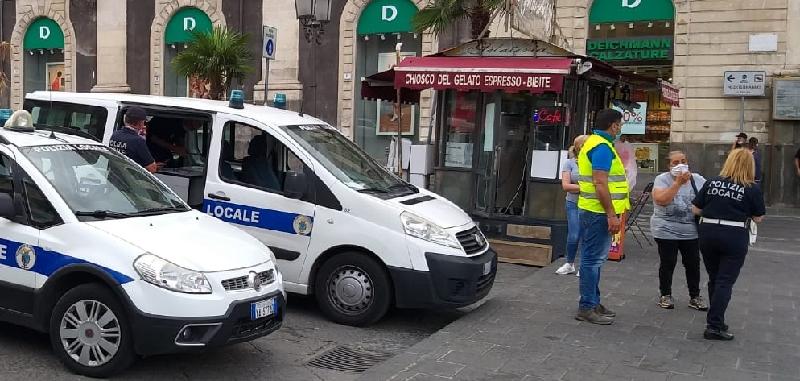 Catania, in giro senza mascherina: 14 multe