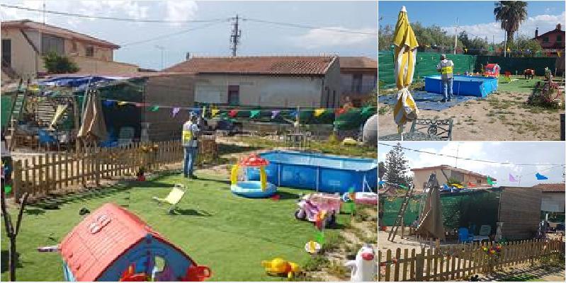 Oasi Simeto: parco giochi e piscina abusivi