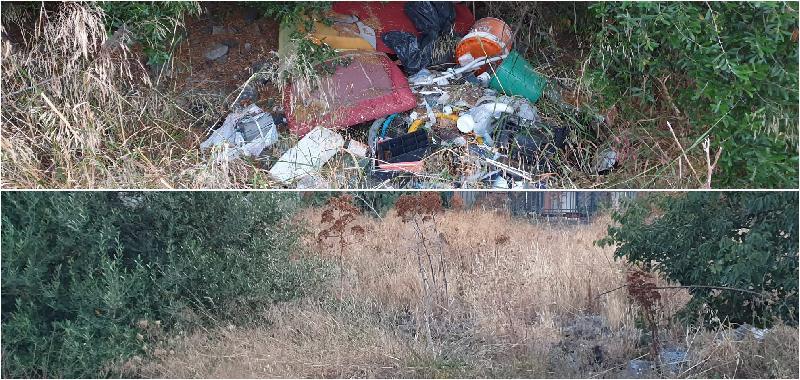 Catania, bomba ecologica in via degli Ulivi