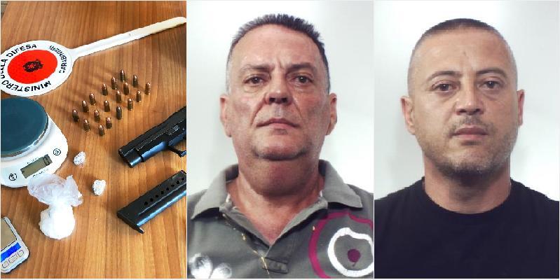 Pistole a droga a Biancavilla, 2 arresti