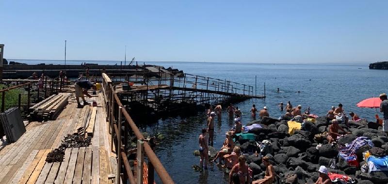 Catania, pronta la spiaggia libera n. 1