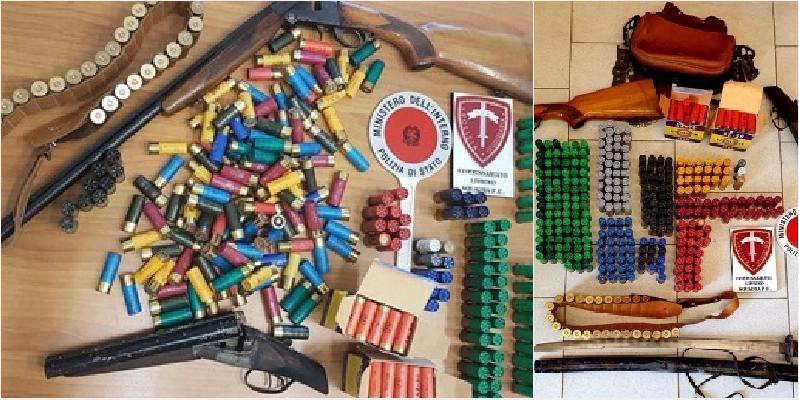 Scoperto un arsenale in viale Moncada