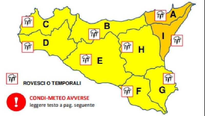 Attenta Catania: è in arrivo la grandine