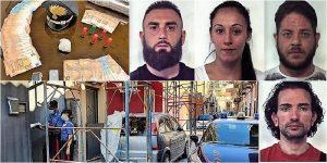 Blitz antidroga a San Cristoforo: 4 arresti