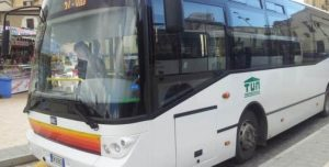 Positivo passeggero su bus ad Agrigento