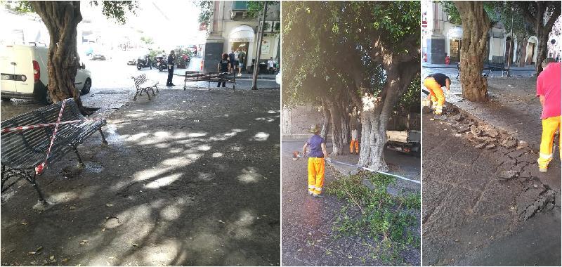 Catania, restyling in piazza Dante