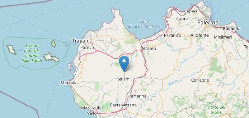 Terremoto 3.5 nel Trapanese