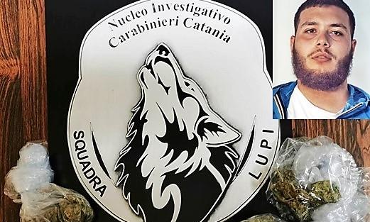 Catania: sorpresa per il pusher a domicilio