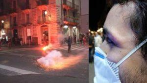 A Catania si scatena la protesta anti dpcm: bombe carta e cameraman ferito