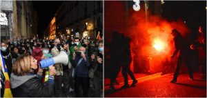 A Catania si scatena la protesta anti dpcm: bombe carta davanti alla prefettura