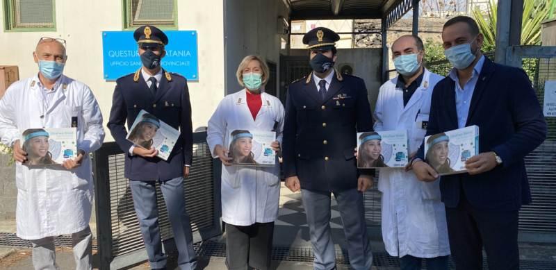 Donate 1.500 visiere alla polizia di Catania
