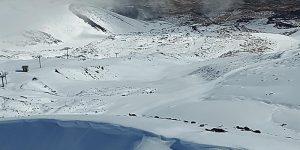 Neve fresca sull'Etna