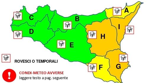 Anche per il meteo Catania è arancione