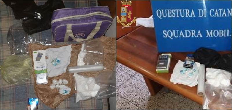 Catania, cocaina nascosta nella cassapanca