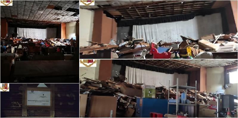 Cineteatro Caronda ridotto in discarica