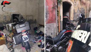 Catania, scoperto deposito di moto rubate
