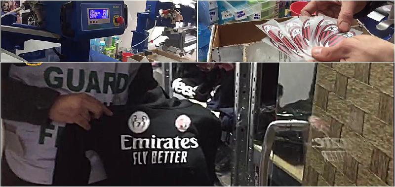 Scoperto lo showroom del contraffatto