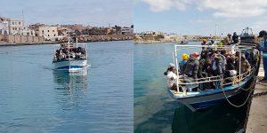 Arrivano indisturbati a Lampedusa