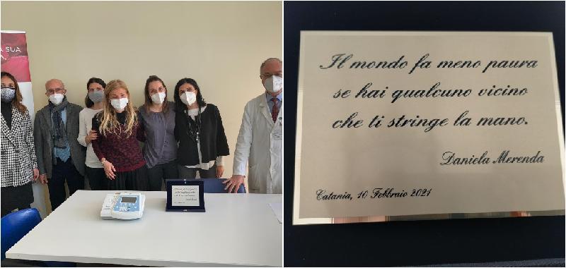 Donato al policlinico elettrocardiografo in memoria dell'avvocatessa Merenda